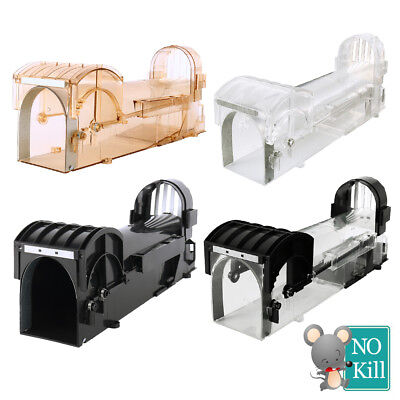 Humane Mouse trap Rat Catcher Live Cage Lock Bait Hamster Large Cheese Bait