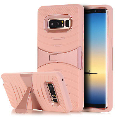 For Samsung Galaxy Note 8 Full Cover Shockproof Armor Hybrid KickStand Skin Case