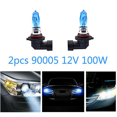 2 X  HB3 9005 12V 100W Xenon White Halogen Fog Car Head Light Lamp Bulbs 6000K