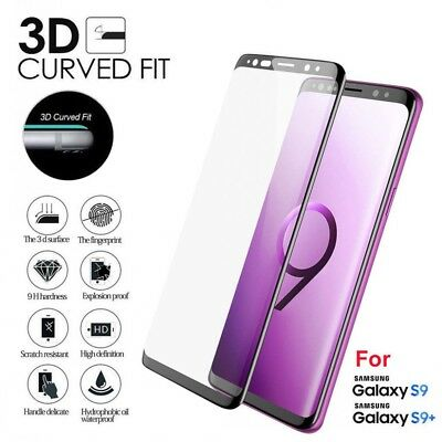 3D Full Cover Tempered Glass Screen Protector For Samsung Galaxy S9 Plus