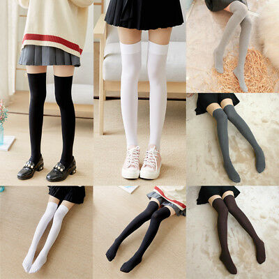 Ladies Over The Knee Thigh High Long Socks Womens Stretch Girls mix Cotton