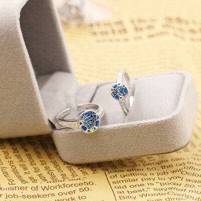 925 Silver Iron Man Arc Reactor Ring Blue Couple Lovers rings Adjustable