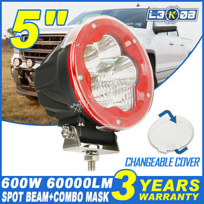 5inch 600W CREE LED Driving Light Headlight Spot Offroad Work 4x4 Lamp HID Round