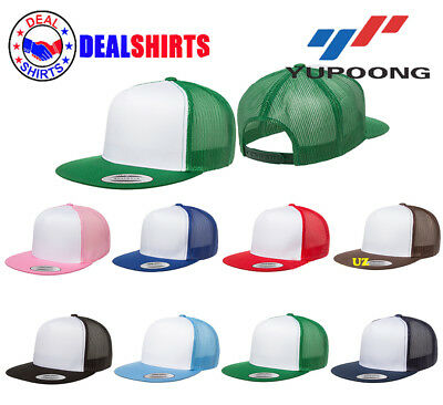 44d2cbbb5764b Yupoong Adult Classic Trucker with White Front Panel Cap-6006W