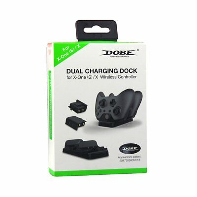 DOBE Charging Dock Station for Xbox One S Controller with 2 Extra Battery Packs