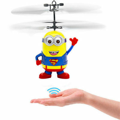 Induction Flying Aircraft Helicopter Fly RC Ball Minion HULK Toy Kids Gift