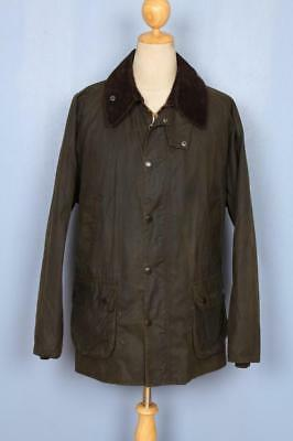 BARBOUR Classic Bedale WAXED Jacket Olive Size 44
