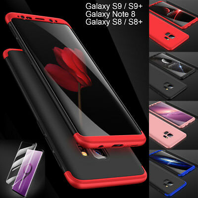 Samsung Galaxy S9 Note 8 9 S8+ 360 Full Cover Hybrid Armor Shockproof Hard Case