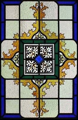 Beautiful Hand Painted English Stained Glass Window