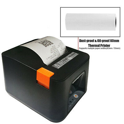 ESC/POS Thermal USB Dot Wired Receipt Printer 80mm 300mm/s Print Auto Cut New MA