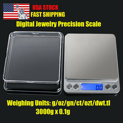 3000g High Precision Mini Pocket Scale Small Jewelry Digital Display Tray Scales
