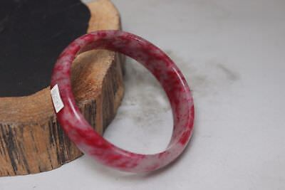 10% OFF- 57/58/59 mm Certified Natural Red Emerald Jade Handcarved Bangle B290