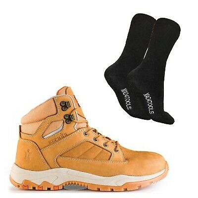 Scruffs OXIDE Safety Work Boots Men's Tan (Sizes 7-12) & 1 Pair of Socks