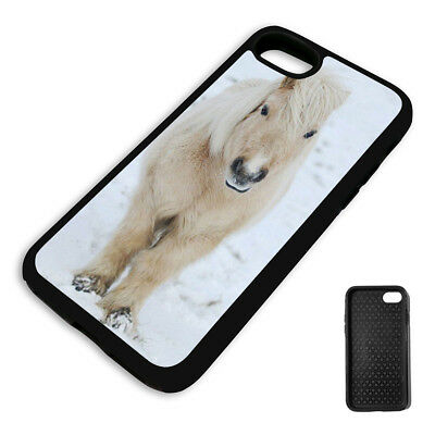 CUTE WINTER PONY PROTECTIVE PHONE CASE COVER fits Iphone BLACK