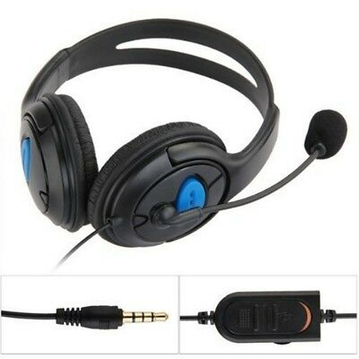 UK Stereo Bass Gaming Dual Headphone Headset with Microphone for PS4 PC Earphone