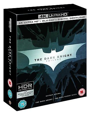 Batman The Dark Knight Trilogy 4K Ultra HD UHD Blu-ray Boxset New All Regions