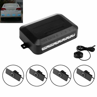 4pcs 16.5mm Parking Flat Sensor Car Reverse Backup Buzzer Radar System Kit ES