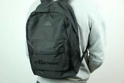 ELLESSE REGENT II Backpack in Triple Black Mono - rucksack, bag ... eabbe5366b