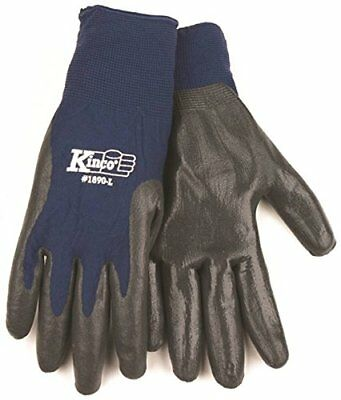 Kinco 1890 Nitrile Coated Gripping Glove Work Large Gray (Pack of 12 Pairs)