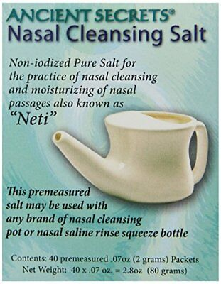 Ancient Secrets Nasal Cleansing Salt 40 packet 0.25 Boxes (Pack of 8)