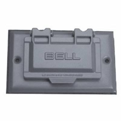 S305e Sngl Gang Weatherproof Gfci Cover Horizontal Silver (5101-5)