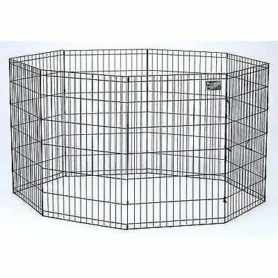 Midwest Home For Pets Black E-Coat Pet Exercise Pen - 42 in. x 24 in.