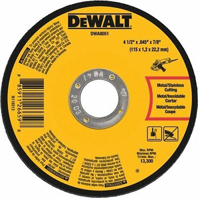 DEWALT DWA8051 Metal Cut-Off Wheel 4-1/2-Inch X .045-Inch X 7/8-Inch