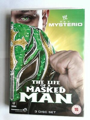 Rey Mysterio The Life of a Masked Man 3 disc set DVD VG E2