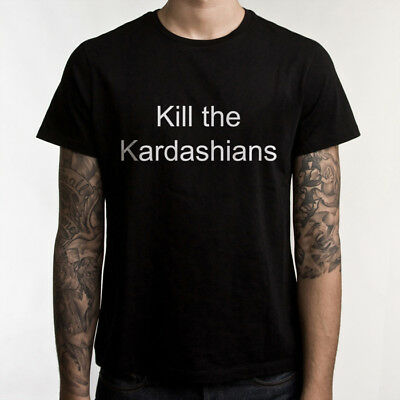 "Slayer Gary Holt ""Kill the Kardashians"" t shirt Black 100% cotton Men's tee"