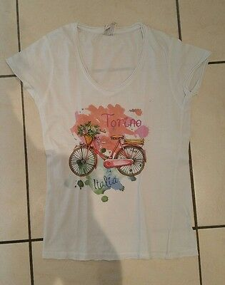LADIES SHABBY Chic Tshirt top - Size UK 10-11 - Italy torino ...