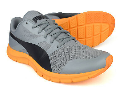 4d7421babee PUMA FLEXRACER MENS Grey Running Trainers 360580-04 -  58.89