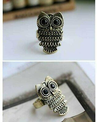 Fashion Ancient Adjustable Metal Owl Retro Style Ring Woman Lady Girl Gifts
