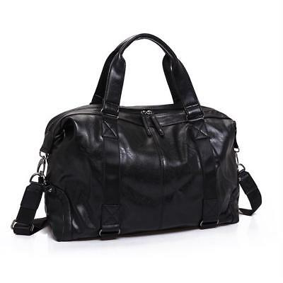 Men/'s Split Leather Travel Bag Large Capacity Soft Shoulder Handbag Organizer