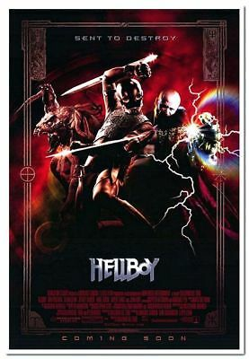 HELLBOY - 2004 - Original 27x40 Movie Poster - RON PERLMAN - Advance of VILLAINS