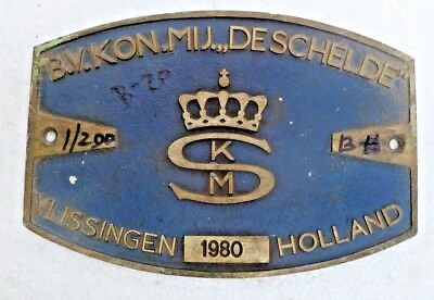 Marine Vintage Ship Nautical Brass Name Plate - Signs - Vlissingen Holland - B20