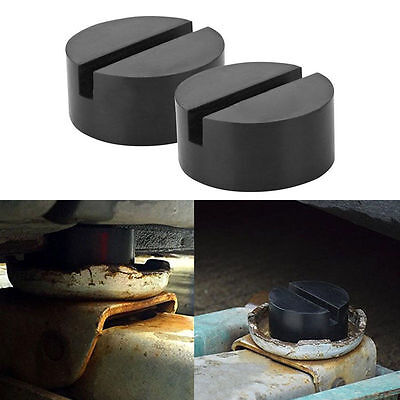1*Universal Slotted Frame Rail Floor Jack Guard Adapter Lift Rubber Pad hard