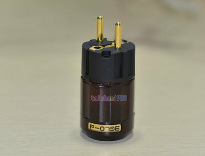 P-079e Gold Plated IEC plug, SCHUKO Connector