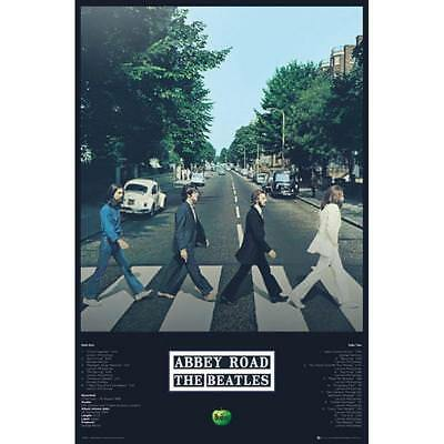 The Beatles Poster Abbey Road 264 John Paul George Ringo Licensed Maxi Brand New