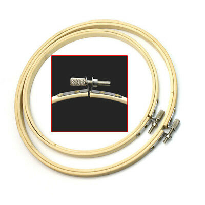 New Cross Stitch Machine Embroidery Hoop Ring Unique Bamboo Sewing Tool 6.7inch