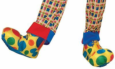 Clown Shoes Covers Circus Yellow Polka Dot Fancy Dress Party Costume Accessory