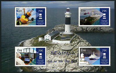 Ireland - Overprinted Lighthouse Booklet pane for Stampa 2017 Exhibition