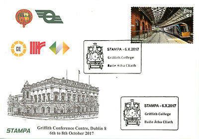 Ireland - Set of 3 official illustrated covers for Stampa 2017
