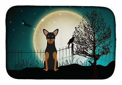 Halloween Scary Manchester Terrier Dish Drying Mat
