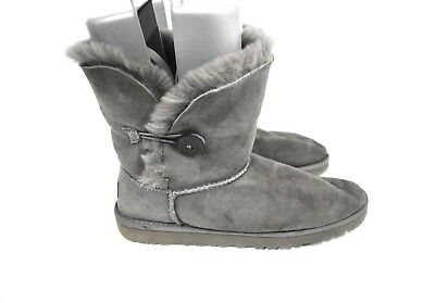 63f53dea072 UGG AUSTRALIA BAILEY Button Boot youth Gray Little Kid & Big Kid 5991Y Size  6