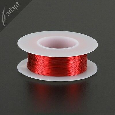 29 AWG Gauge Magnet Wire Red 313' 155C Solderable Enameled Copper Coil Winding