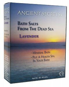 Dead Sea Mineral Bath Salts Lavender 1 lb. 1 Pounds