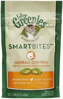 GREENIES Smartbites Hairball Control Chicken - 2.1 Oz Pack of 12