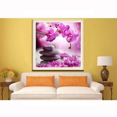 Pink Flower 5D Full Diamond Painting Embroidery DIY Cross Stitch Kit Home Decor