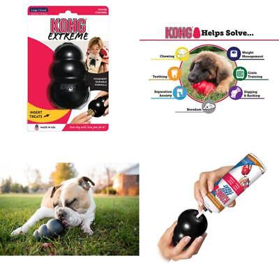 KONG Extreme Dog Toy Large Rubber Chew Toy For Dogs Fetch Pet Supplies Black