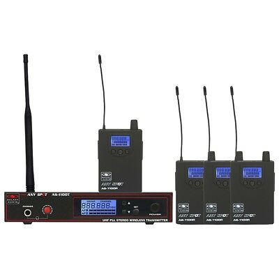 Galaxy Audio AS-1100-4 Any Spot 4-Band Wireless Monitoring System D 584-607 MHz